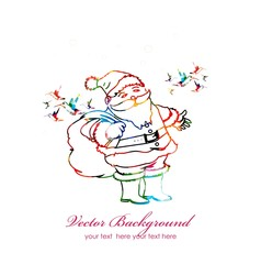 colorful vector Santa Claus