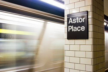 Astor Place Subway Station, New York