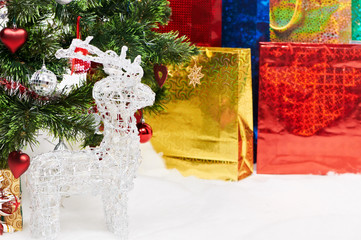 gifts background at Christmas or new year