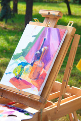 Easel to paint