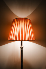 Lamp in the dark interior
