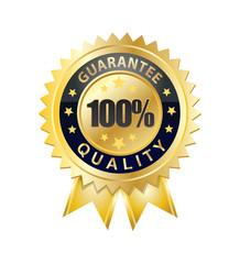100 percent quality guarantee seal