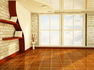 a nice room with a big window