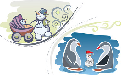 winter family cards