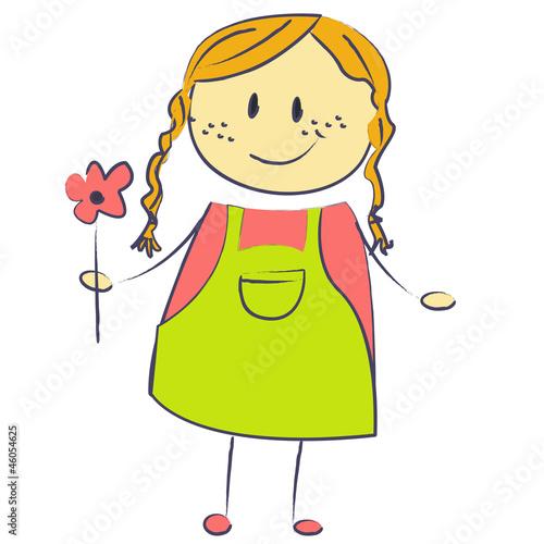 Bonhomme fille fleur photo libre de droits sur la banque d 39 images image 46054625 - Bonhomme fille ...