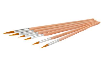 Fototapete - set of brushes isolated