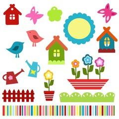 colorful child scrapbook elements