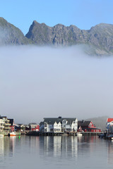 Low clouds on Henningsvær