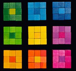 Coloristic squares