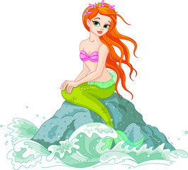 Deurstickers Zeemeermin Beautiful Mermaid