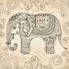 Stylized lacy elephant