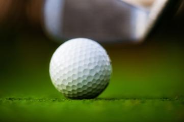 Golf ball on the field.