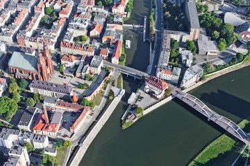 aerial view of Opole city