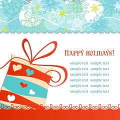 Christmas gift box festive background vector