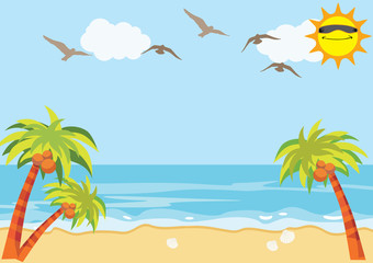 Sea Sand Beach Background