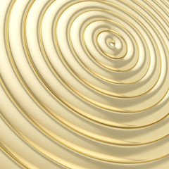 Abstract background made of glossy hoop torus rings