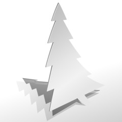 Curled paper Christmas tree