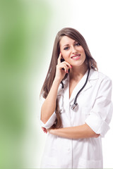 Beautiful smiling female doctor