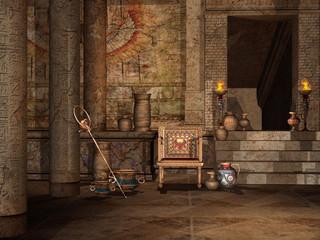 Obraz Wnętrze egipskiej świątyni - fototapety do salonu