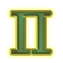 Greek Letter Pi - 3d illustration