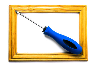 screwdriver on the white background