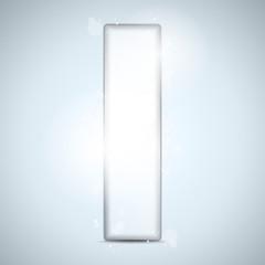 Alphabet Glass Shiny with Sparkles on Background Letter I
