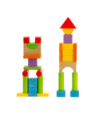 Wooden toy robot childhood can play and enjoy there creation