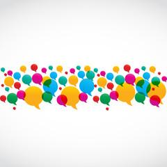 Colorful Speech Bubbles Social Media Concept