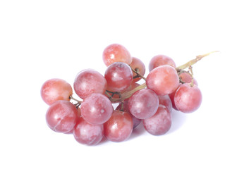fresh purple grape  on white background