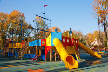 Children playground on a sunny day
