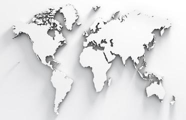 imagen 3d de mapa en blanco