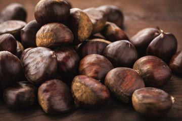 chestnut on wood