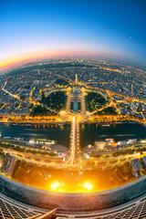 Fototapete - Paris de nuit