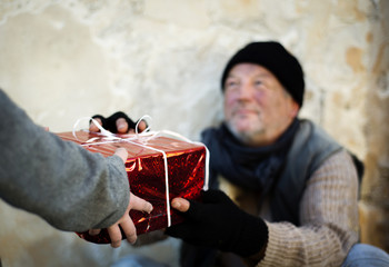 Christmas gift for homeless man
