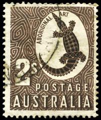 AUSTRALIA - CIRCA 1948 Crocodile