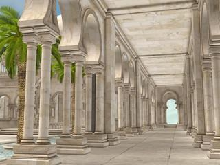 Korytarz w orientalnym pałacu