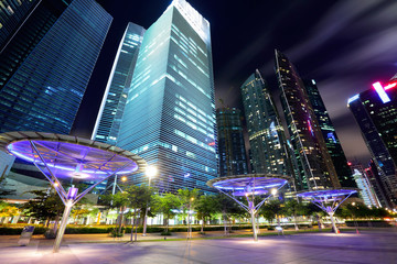 Foto op Plexiglas Singapore Singapore City at dusk