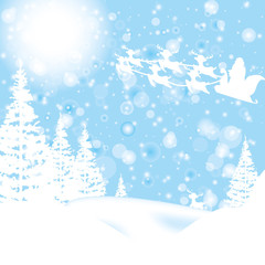 beautiful christmas wintert card