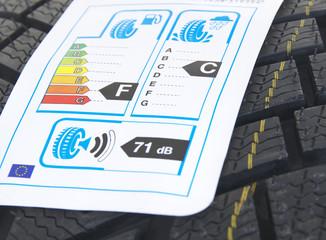 Autoreifen mit EU Reifenlabel