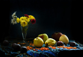 Still life with the fruits