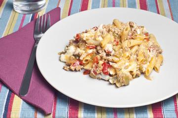 Appetizing dish of macaroni