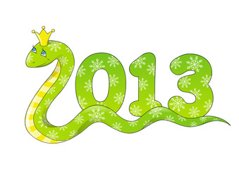 Cute cartoon snake - symbol of Chinese New Year