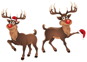 Rudolph The Reindeer Dancing with Hat