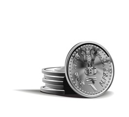 indian rupy coins vector illustration