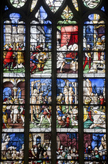 Gisors (Normandy) - Stained glass in gothic church