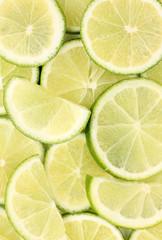 Tuinposter Plakjes fruit Lime close up