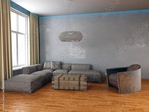 design wohnzimmer rustikal vintage look