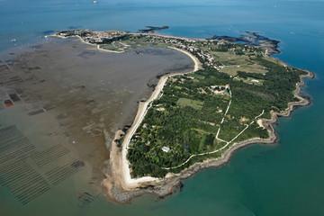 Photo aérienne de l'île d'Aix