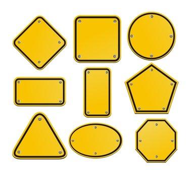 blnak yellow signs