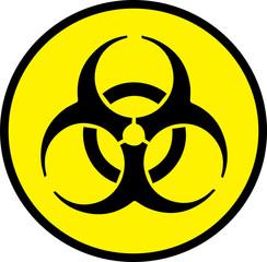 Biohazard circle sign